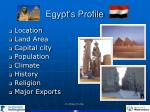 egypt s profile