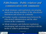 fifth domain public relations and communication with community