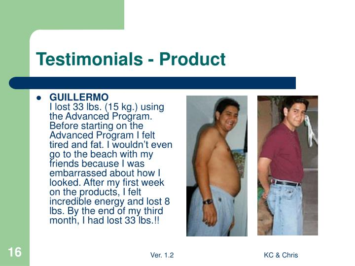 Testimonials - Product