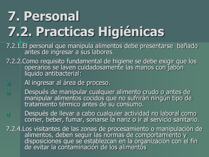 7. Personal