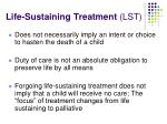 life sustaining treatment lst