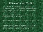 references and credits