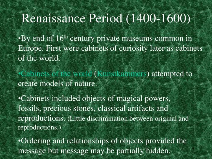 Renaissance Period (1400-1600)