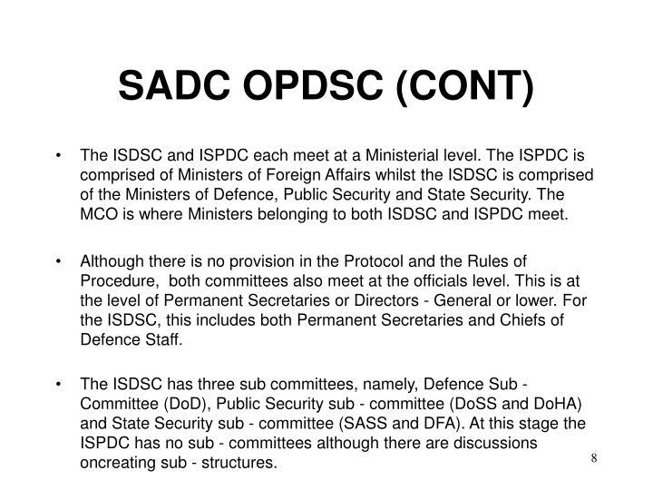 SADC OPDSC (CONT)