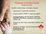 strategies for building healthy relationships