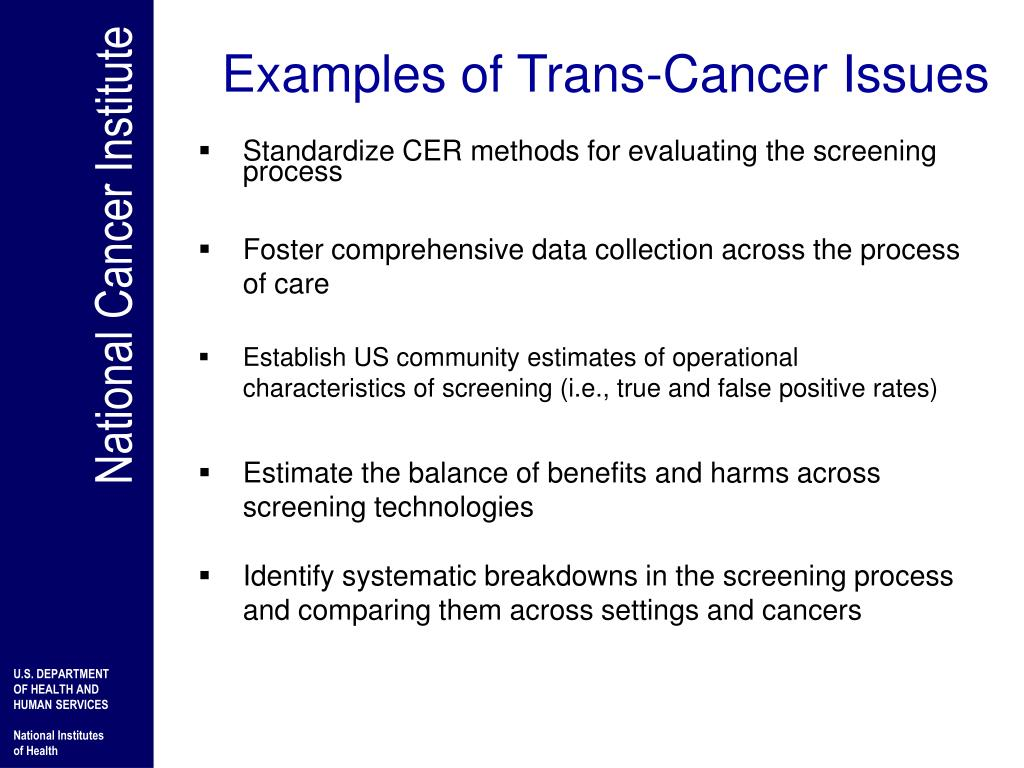 Examples of Trans-Cancer Issues