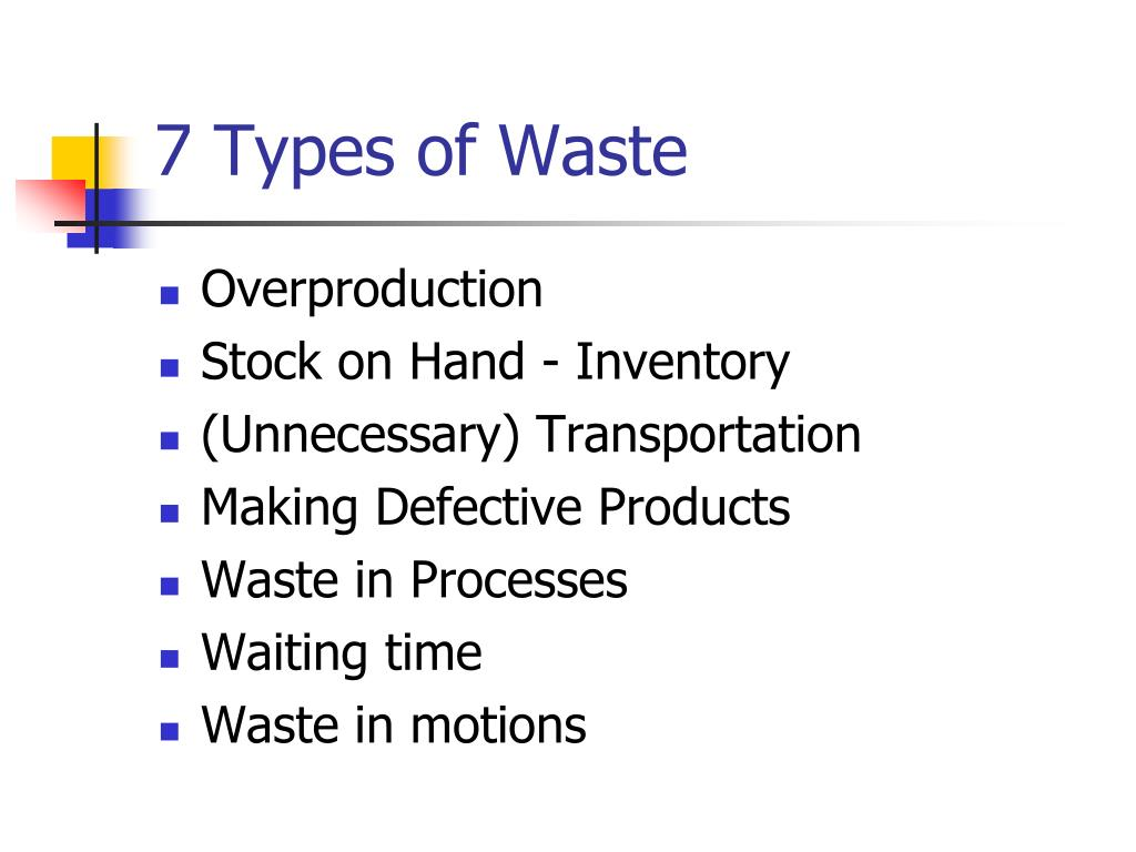 7 Types of Waste