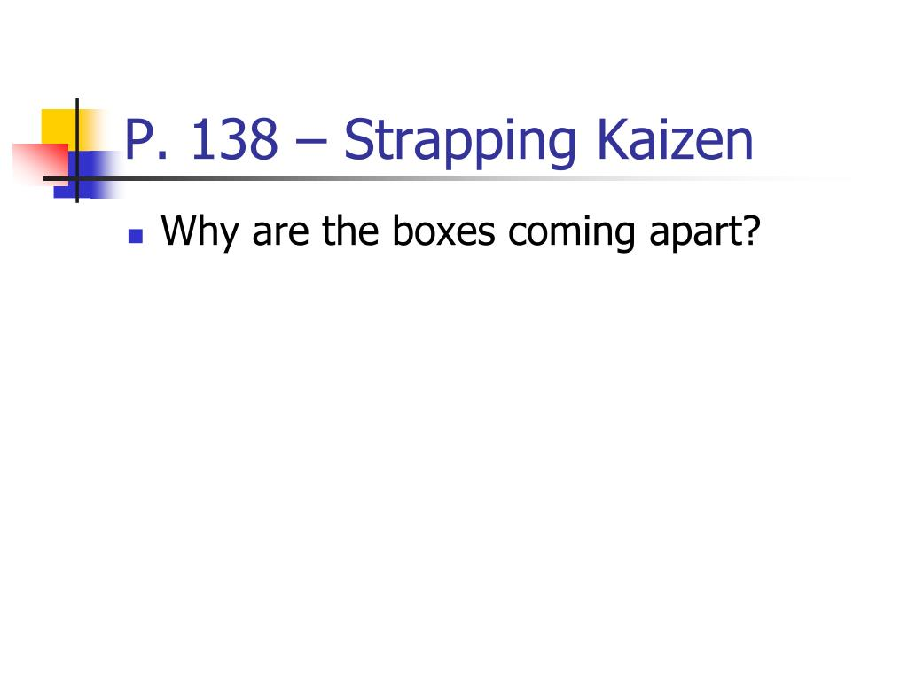 P. 138 – Strapping Kaizen