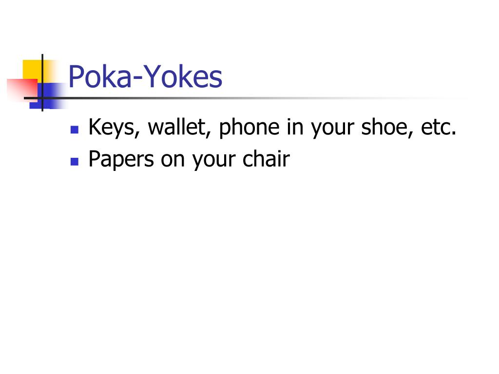 Poka-Yokes