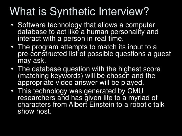 What is Synthetic Interview?