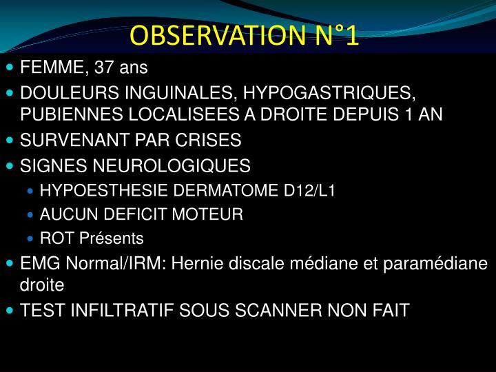 OBSERVATION N°1