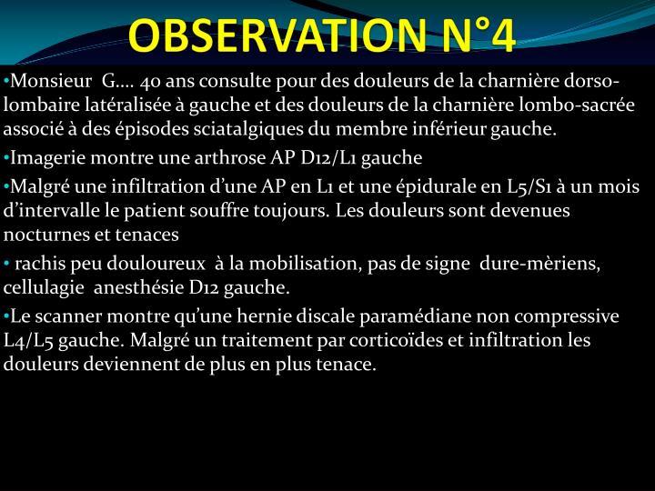 OBSERVATION N°4