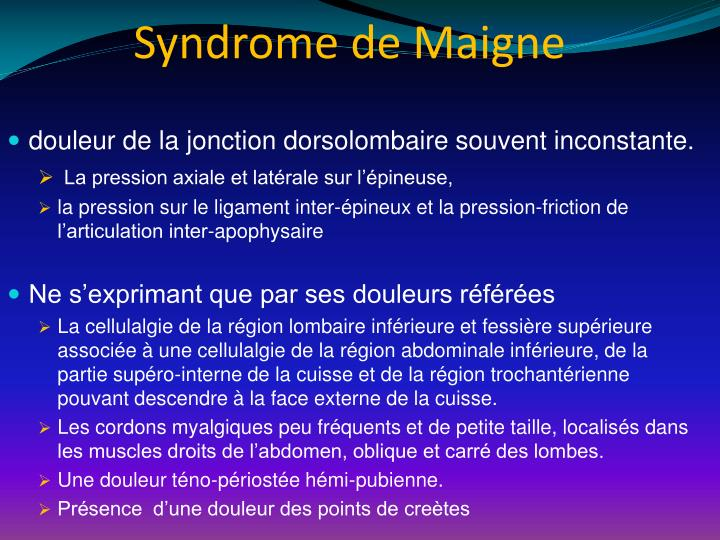 Syndrome de Maigne