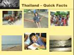 thailand quick facts