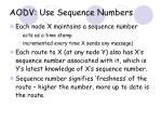 aodv use sequence numbers