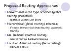 proposed routing approaches