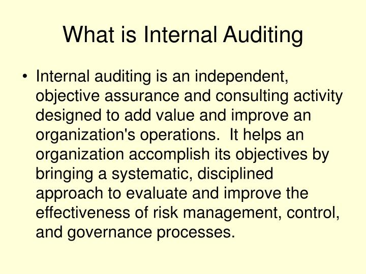 What is Internal Auditing