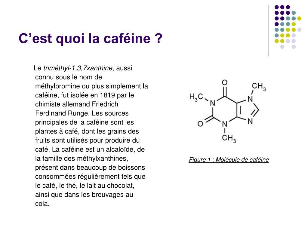 C'est quoi la caféine ?