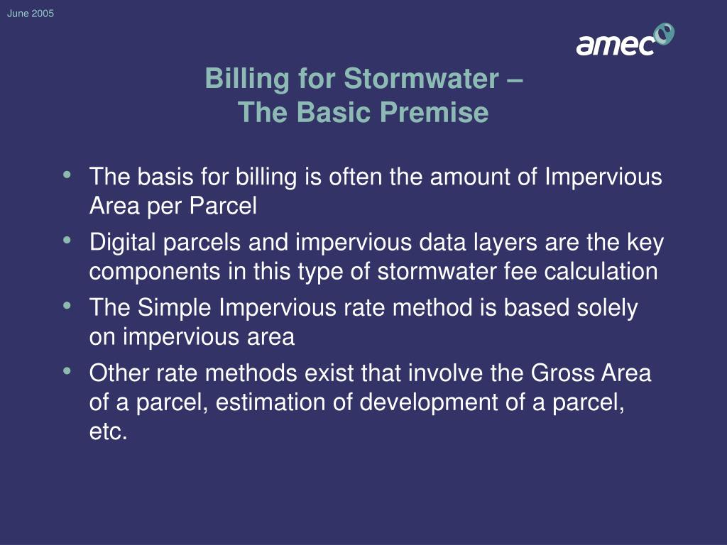 Billing for Stormwater –