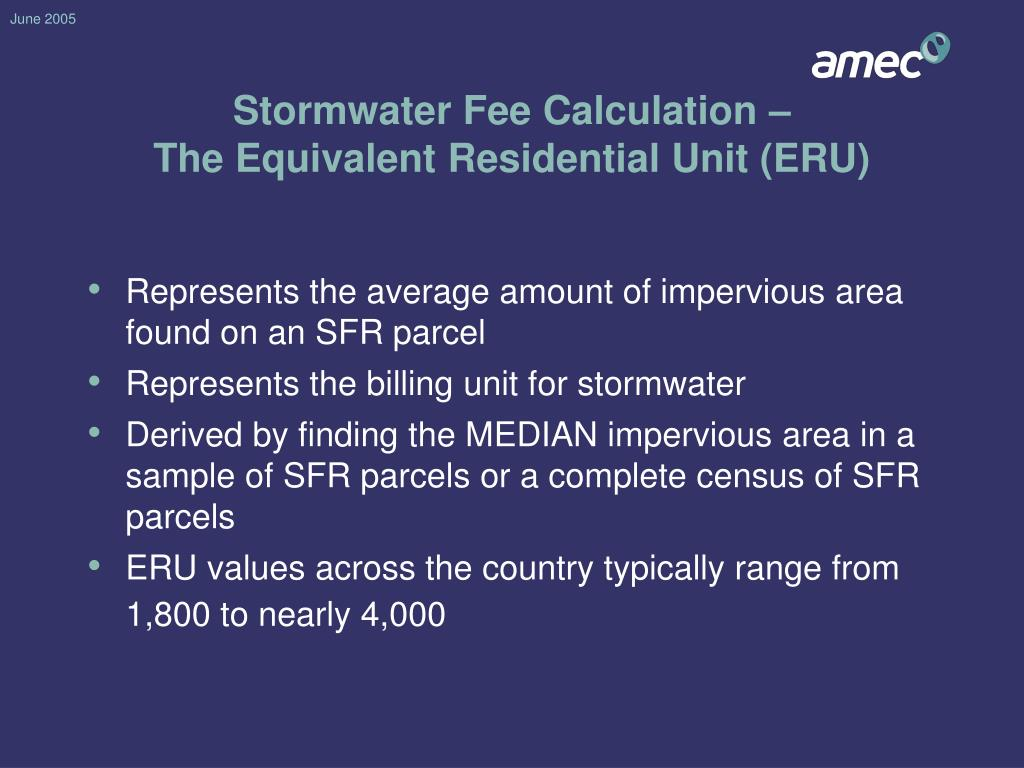 Stormwater Fee Calculation –
