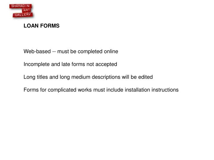 LOAN FORMS