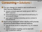 consuming solutions i