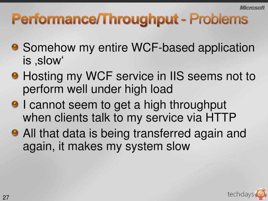 Performance/Throughput