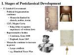 i stages of postclassical development14