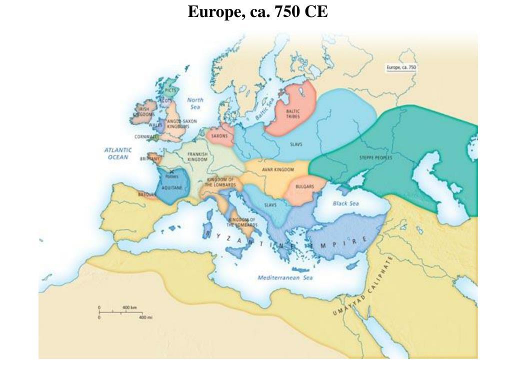 Europe, ca. 750 CE