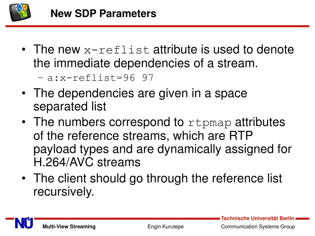 New SDP Parameters