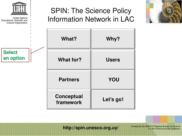 SPIN: The Science Policy Information Network in LAC