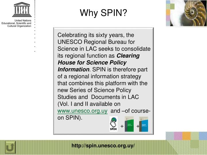 Why SPIN?
