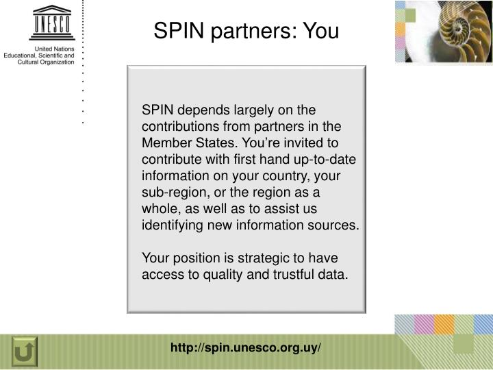 SPIN partners: You