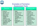 examples of formative assessment tools