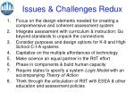 issues challenges redux