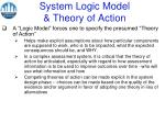 system logic model theory of action
