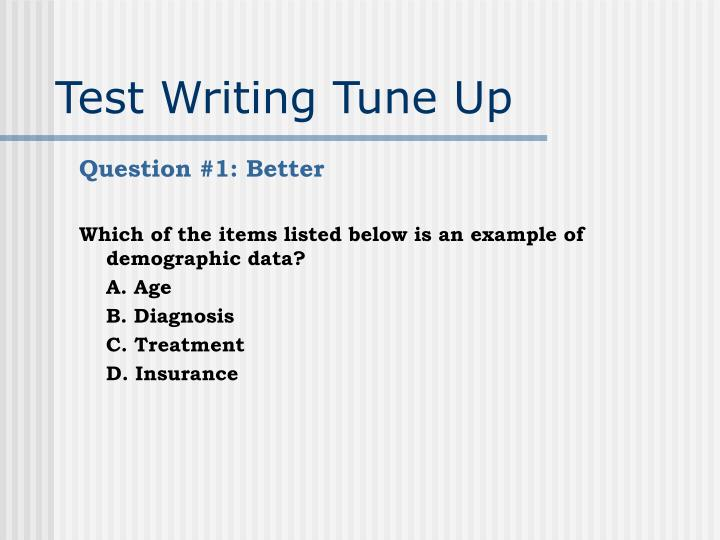 Test writing tune up3