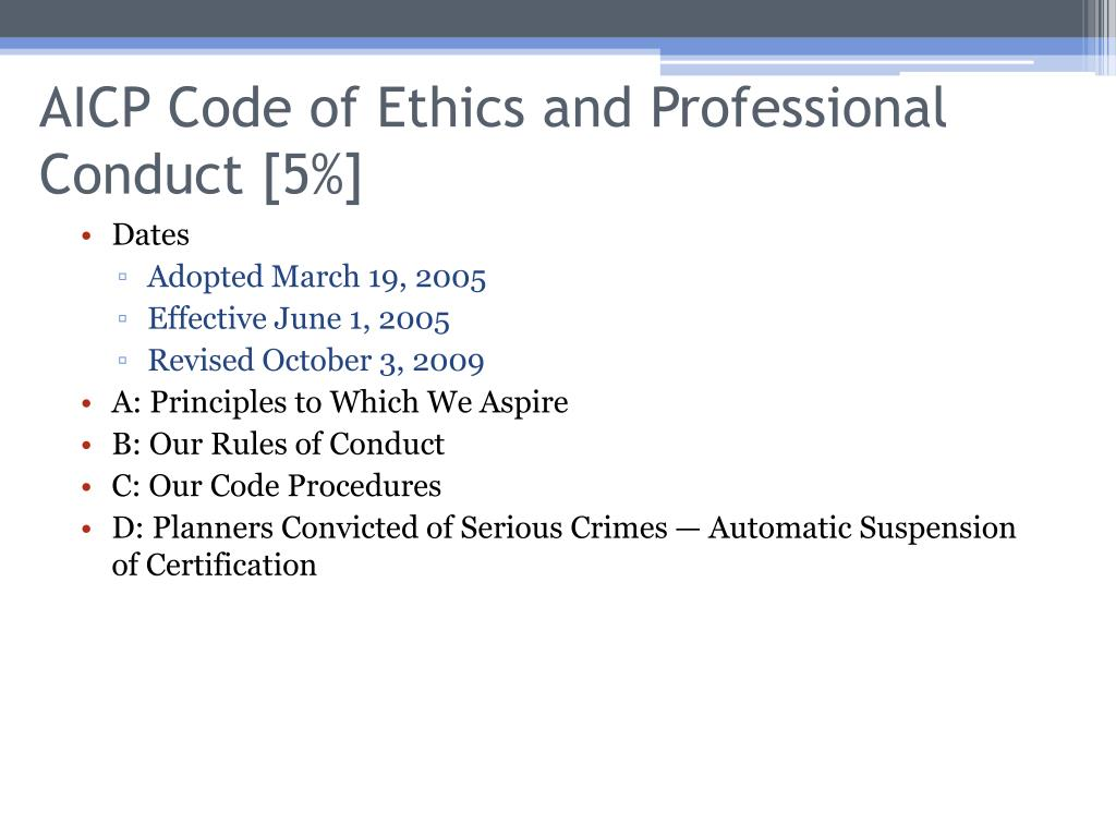 AICP Code of Ethics