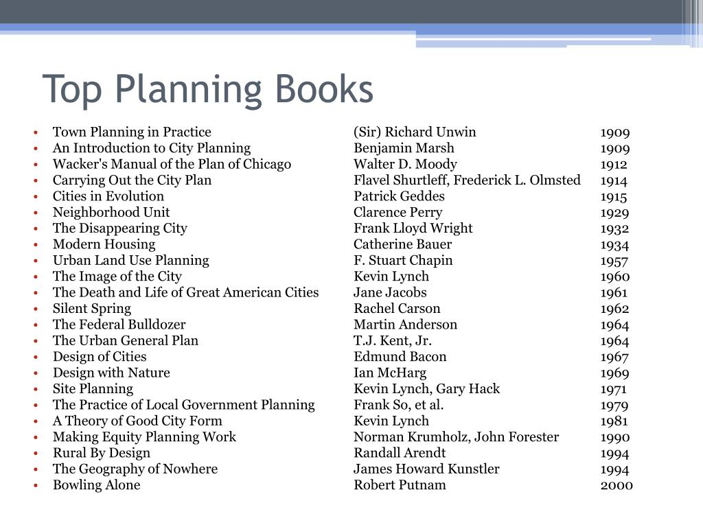 Top Planning Books