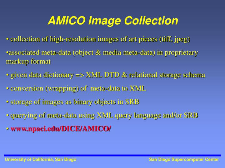AMICO Image Collection