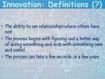 innovation definitions