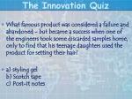 the innovation quiz