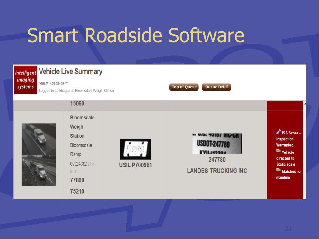 Smart Roadside Software