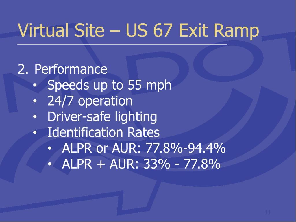 Virtual Site – US 67 Exit Ramp
