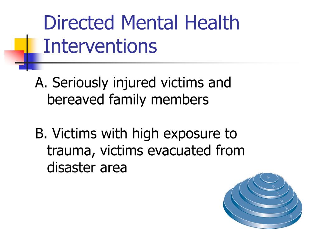 Directed Mental Health Interventions