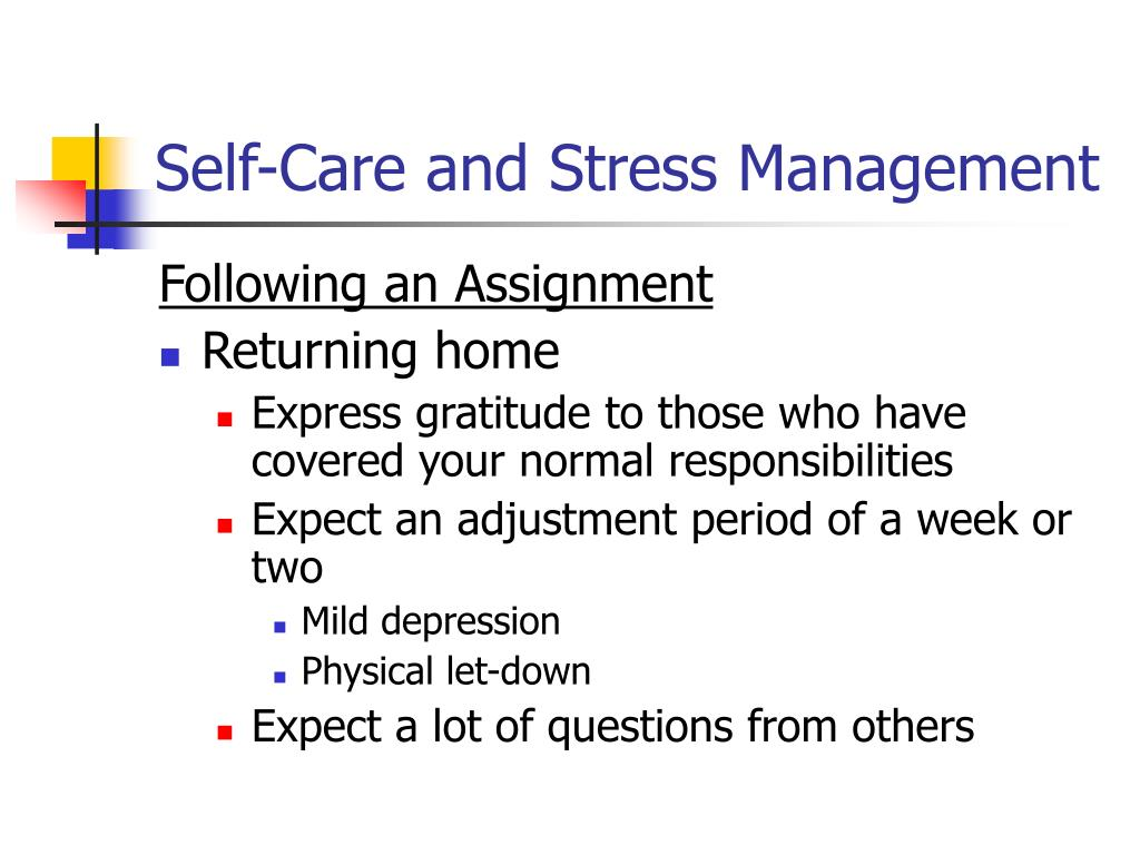 Self-Care and Stress Management