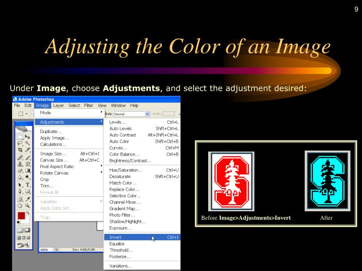Adjusting the Color of an Image