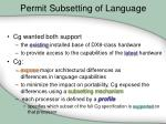 permit subsetting of language1