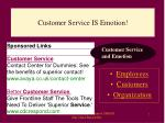 customer service is emotion