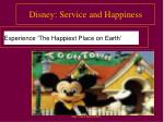 disney service and happiness
